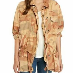 Free People Lead the Way Camo Taupe Utility Jacket